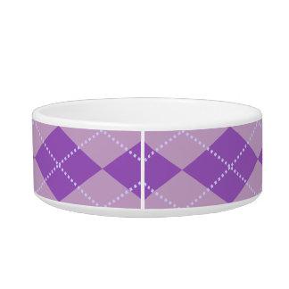 Lilac Argyle Pattern Bowl