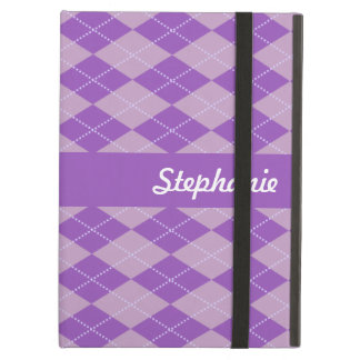 Lilac Argyle Pattern Cover For iPad Air