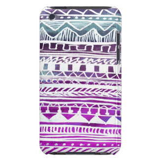 Lilac Aztec Pattern Barely There iPod Cases