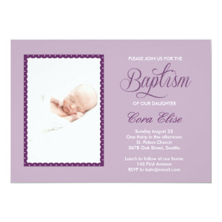 Lilac Baptism Invitation