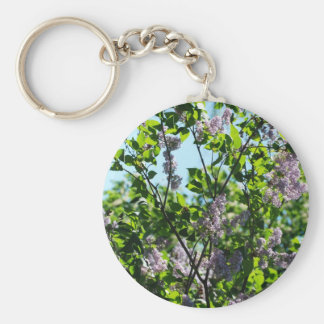 lilac basic round button key ring