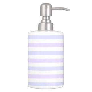 Lilac, Blue and White Nautical Stripes Bathroom Set