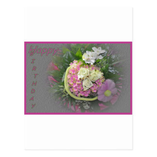 Lilac bouquet birthday card postcards
