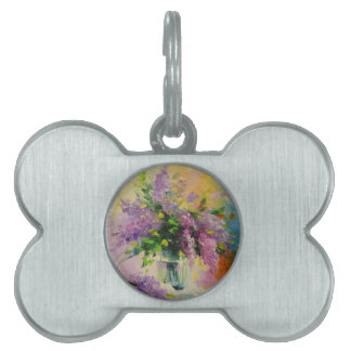Lilac Bouquet Pet Name Tag