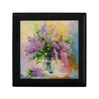 Lilac Bouquet Small Square Gift Box