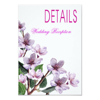 Lilac Branches Watercolor Directions Announcements