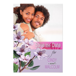 Lilac Branches Watercolor Save the Date Personalized Announcement