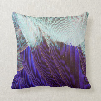 Lilac Breasted Roller Feather Abstract Cushion