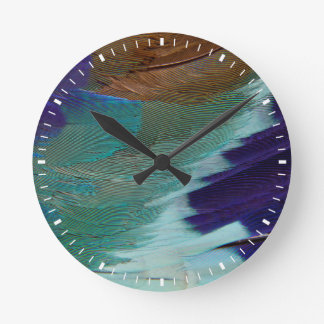 Lilac Breasted Roller feathers Clocks