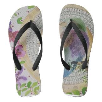 Lilac breasted roller flip flops