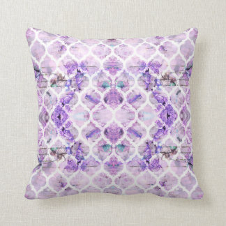 Lilac Breeze Geometric Cushion | Floral