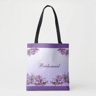 Lilac Bridesmaid Wedding Tote Bag