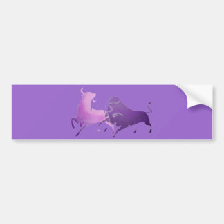 Lilac Bullfight PNG Bumper Stickers