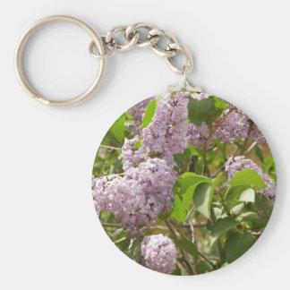 Lilac Bush Beautiful Purple Spring Flowers Key Ring
