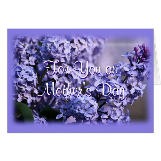 Lilac Bush in Bloom- Mother's Day- or any occasion Card