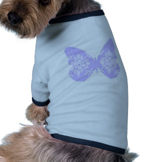 Lilac Butterfly Floral Doggie Tee Shirt