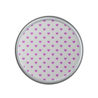 Lilac Candy Polkadot Hearts on White Speaker