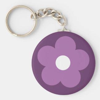 Lilac cartoon flower purple key chain