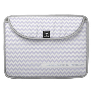 Lilac Chevron Rickshaw Flap Sleeve Sleeve For MacBooks