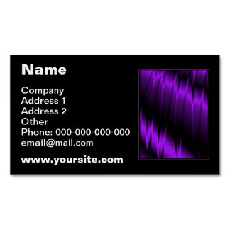 Lilac Claws Magnetic Business Cards