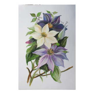 Lilac Clematis Photo Print
