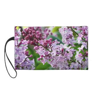 Lilac clutch wristlet clutch