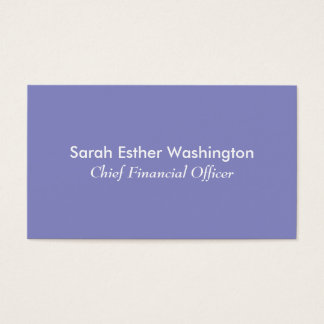 Lilac Color Business Card