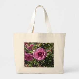 Lilac Colored Rose Tote Bags