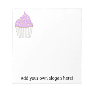Lilac Cupcake - Personalize a Sweet Baking Graphic Notepads