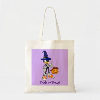 Lilac Custom Halloween Treat Bags - Penguin