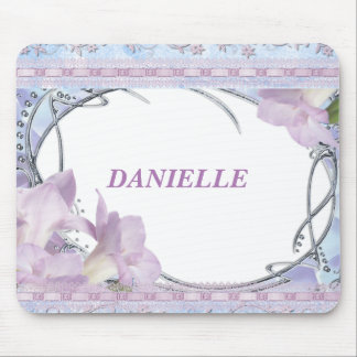 Lilac Decorative Design Mouse Mat