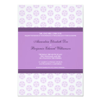 Lilac Decorative Stamp Formal Wedding Invitation