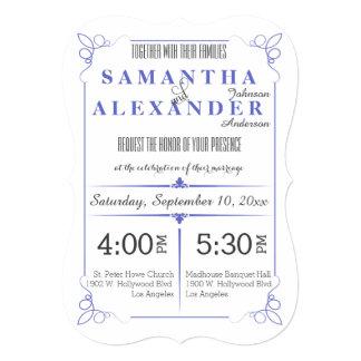 Lilac Die Cut Bracket Art Deco Wedding Invite