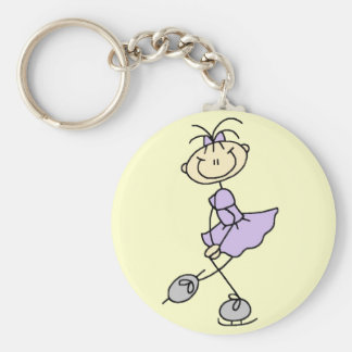 Lilac Dress Figure Skater Tshirts and Gifts Basic Round Button Key Ring