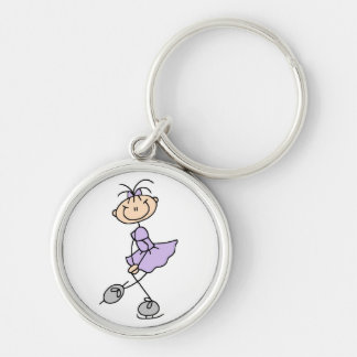 Lilac Dress Figure Skater Tshirts and Gifts Silver-Colored Round Key Ring