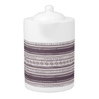 Lilac Ethnic pattern Medium Teapot