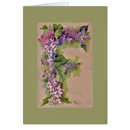 """Lilac """"F"""" Note Card GRN"""