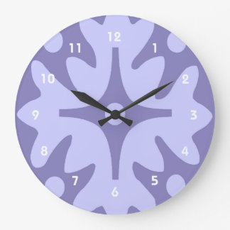 Lilac Floral Abstract Clock