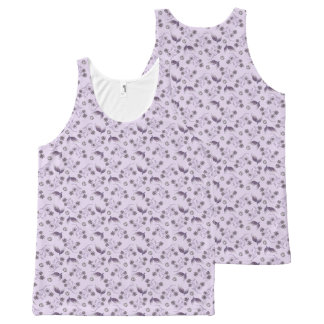 Lilac Floral All Over Print All-Over Print Tank Top