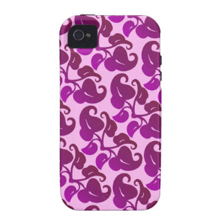 Lilac Floral Leaf Design iPhone 4/4S Covers