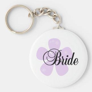 Lilac Flower Bride Keychains