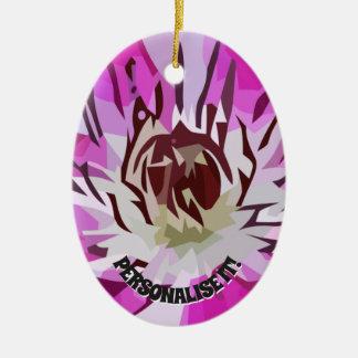 Lilac flower christmas ornament
