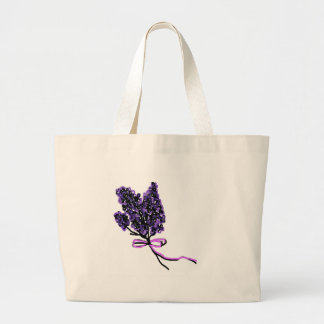 Lilac Flower Design in Summer Flowers Tote Bag