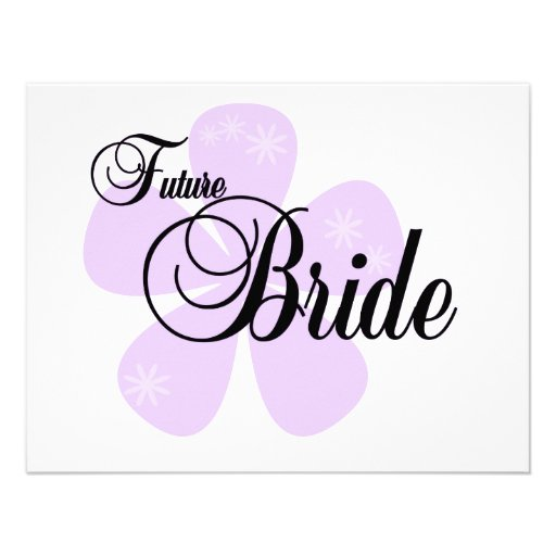 Lilac Flower Future Bride Tshirts and Gifts Personalized Invite