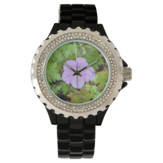 Lilac Flower Watch
