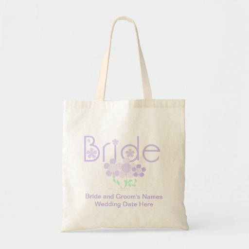 Lilac Flowers Bride Personalized Tote Bag