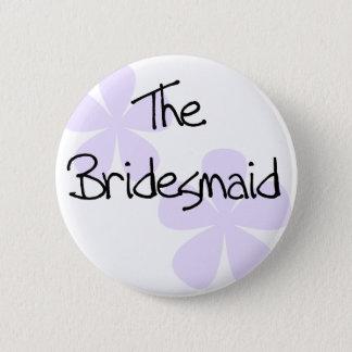 Lilac Flowers Bridesmaid 6 Cm Round Badge