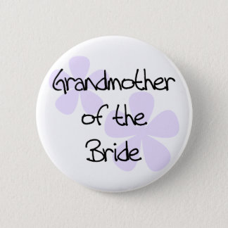 Lilac Flowers Grandmother of Bride 6 Cm Round Badge