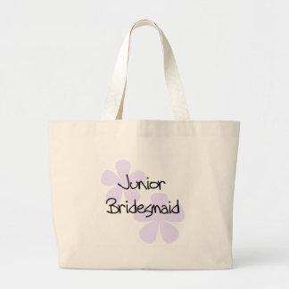 Lilac Flowers Jr. Bridesmaid Large Tote Bag