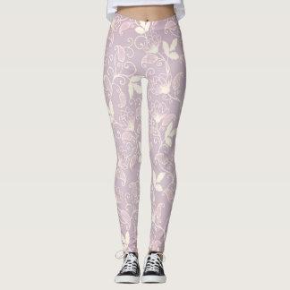 Lilac flowers leggings